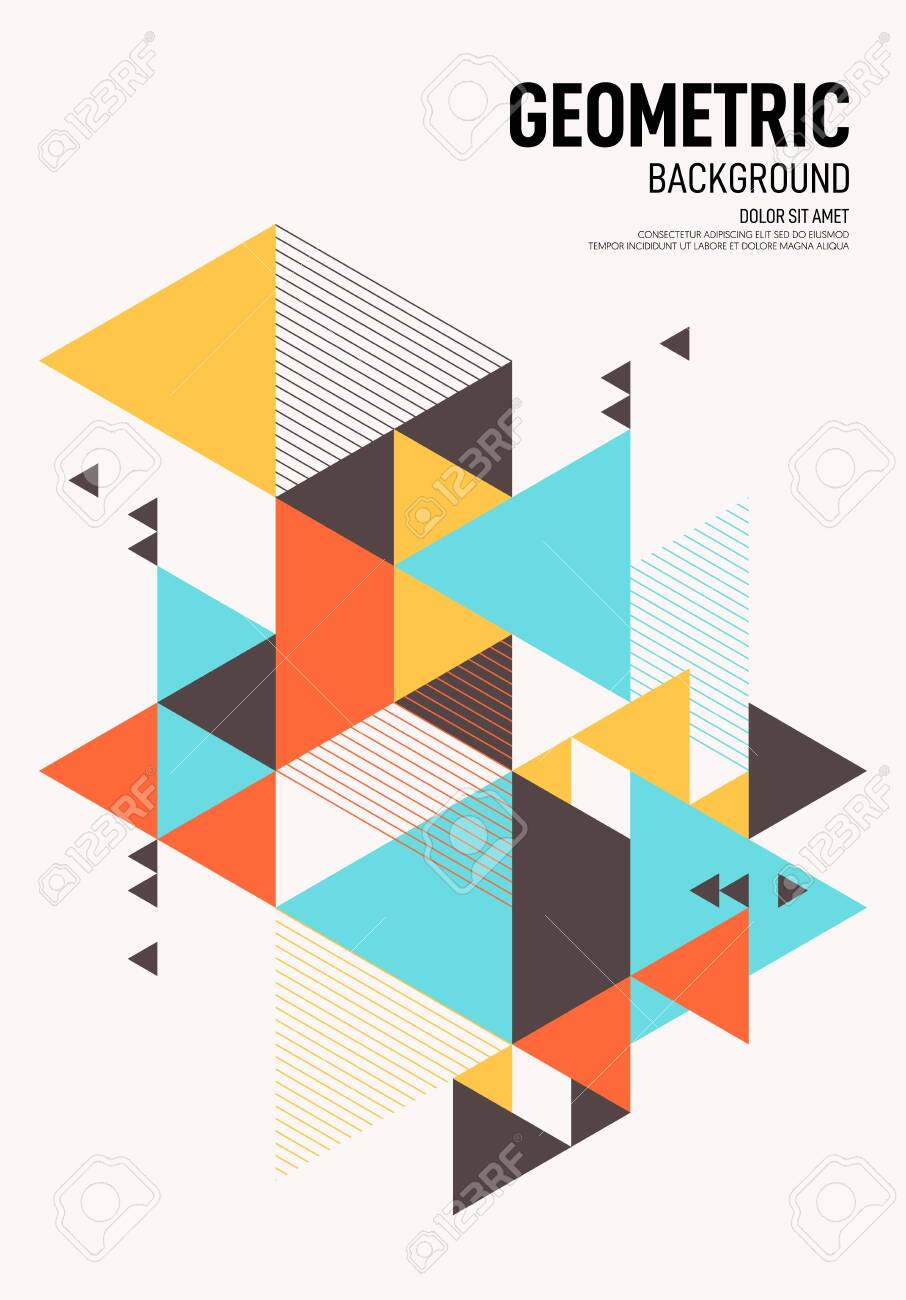 Geometric Shapes Poster Design Free Premium Vector Download,Abstract Geometric Line Design