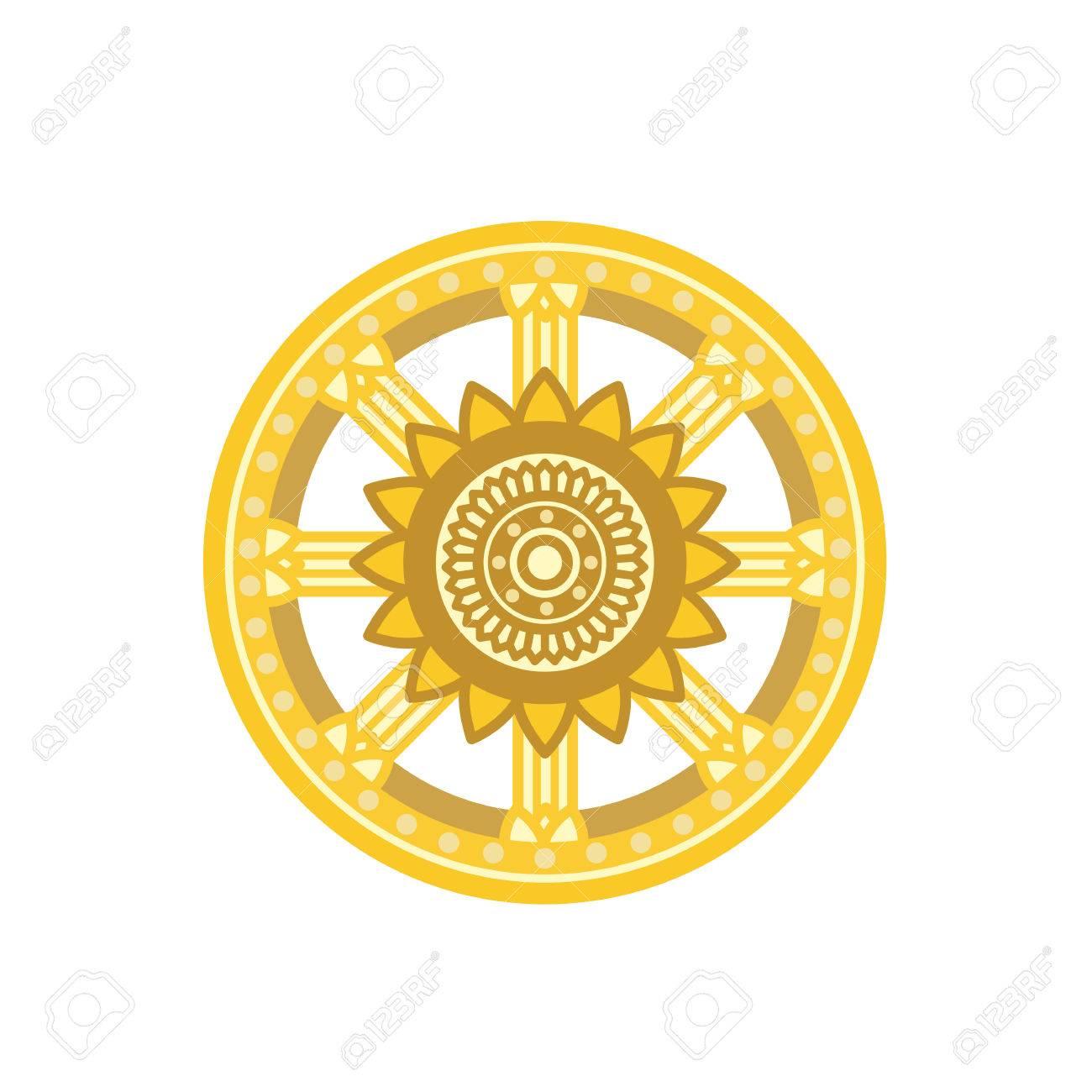 Dharma wheel dharmachakra icon buddhism symbol isolated on dharma wheel dharmachakra icon buddhism symbol isolated on white background stock vector buycottarizona Image collections
