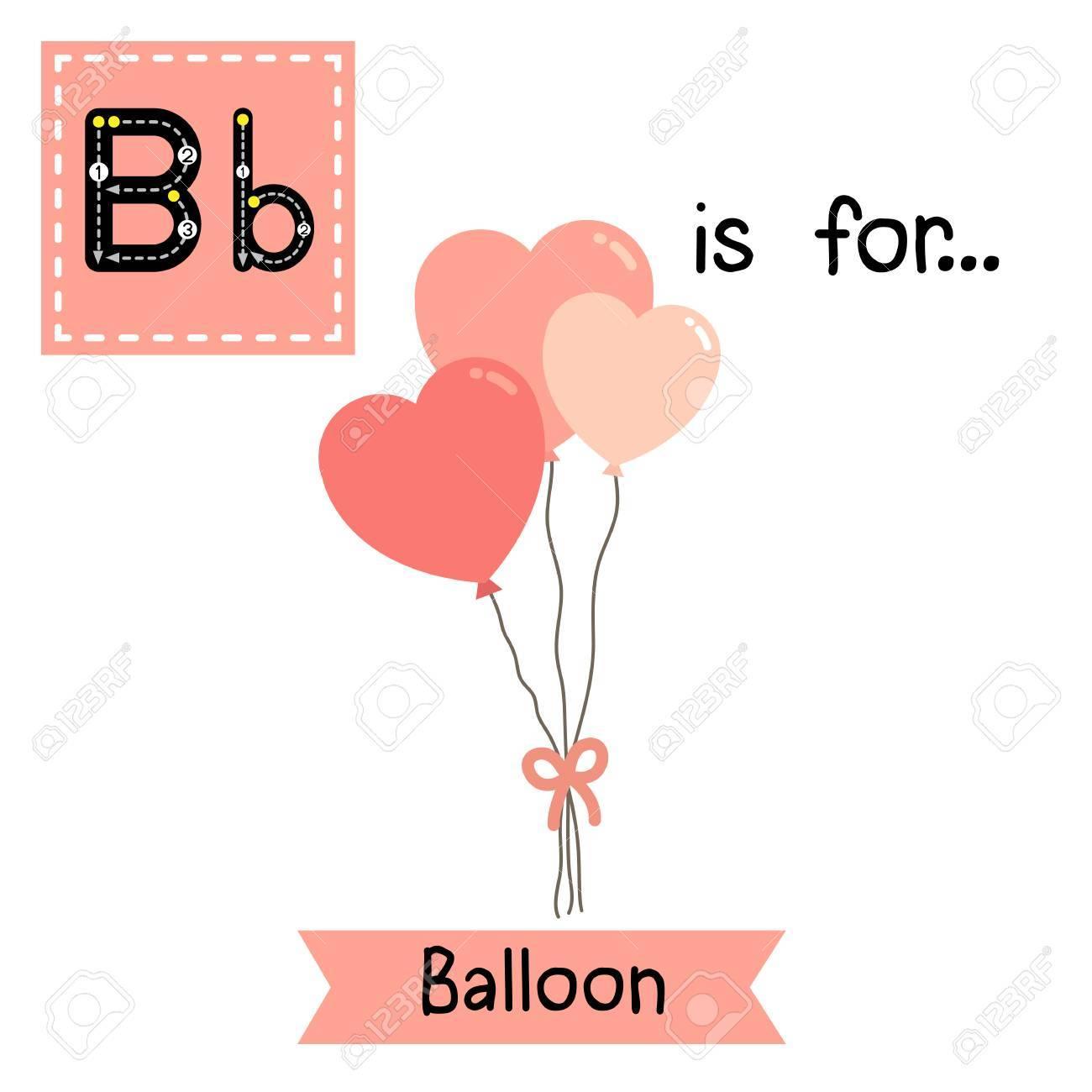 Nette Kinder Abc Alphabet B Brief Tracing Flashcard Von Ballon Für