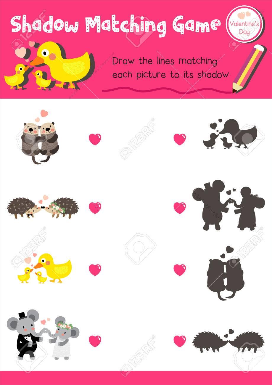 Shadow Matching-Spiel Von Tieren Für Vorschulkinder Aktivität ...