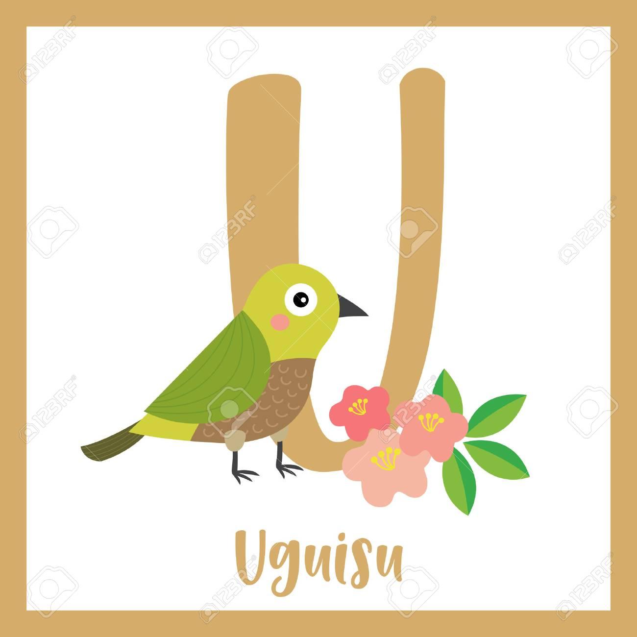 U 文字語彙鶯鳥うぐいすかわいい子供たち Abc 動物園アルファベット