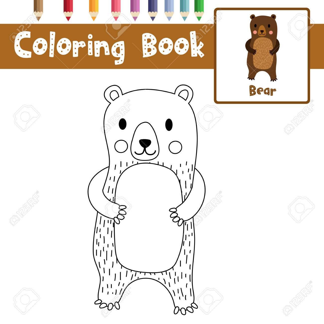 Dibujo Para Colorear Animales De Pie Para Los Ninos De Preescolar
