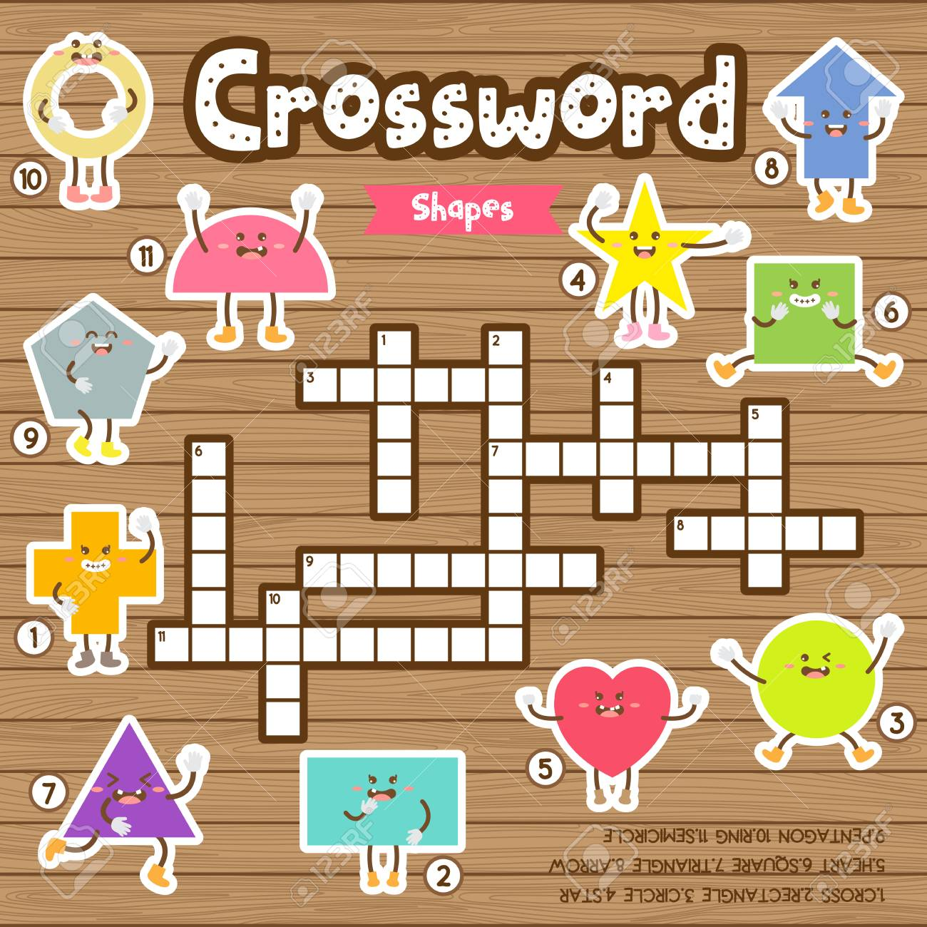 photograph about Star Magazine Crossword Puzzles Printable identify Crosswords puzzle video game of designs for preschool children recreation..