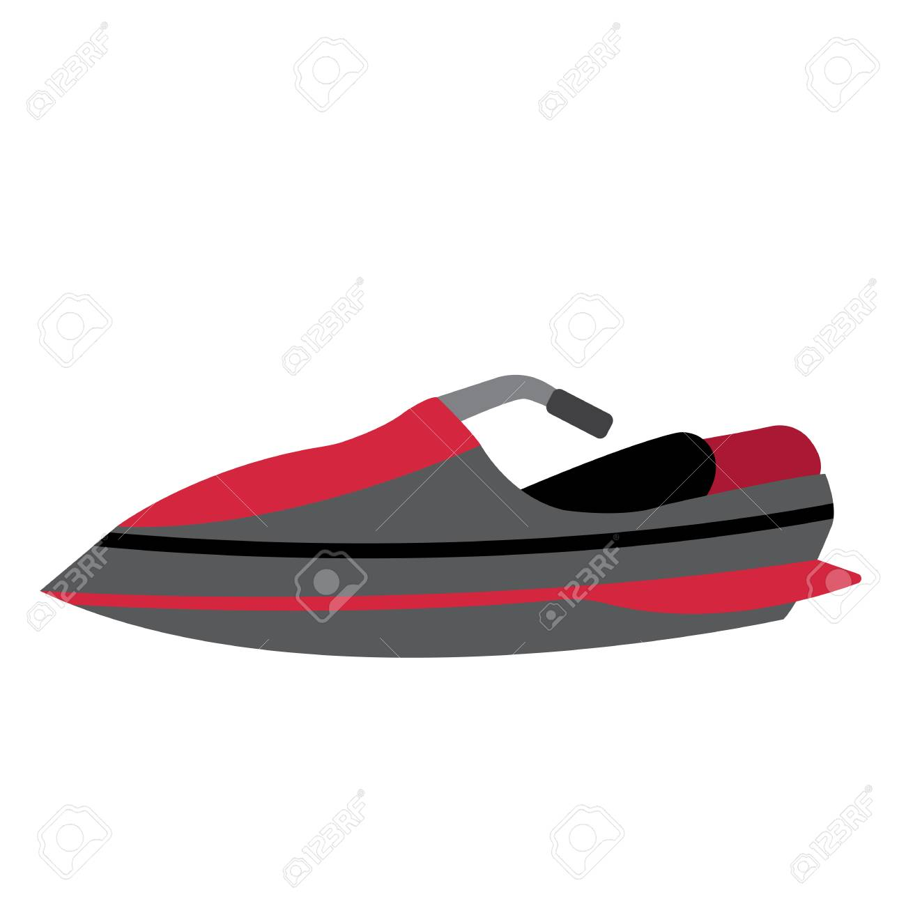 Jet Ski Transportation Cartoon Character Side View Isolated On Royalty Free Cliparts Vectors And Stock Illustration Image 101595811