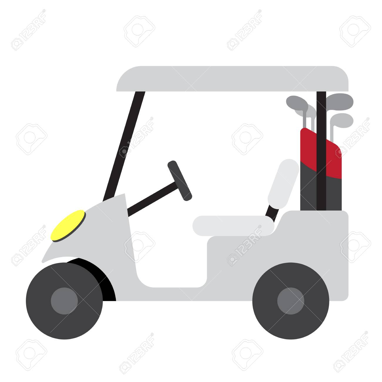 Golf Cart Transportation Cartoon Character Side View Isolated Royalty Free Cliparts Vectors And Stock Illustration Image 101653906