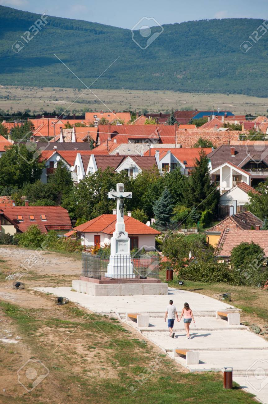 Crucifix on Benedek Hill, Veszprem, Hungary Stock Photo - 14993570