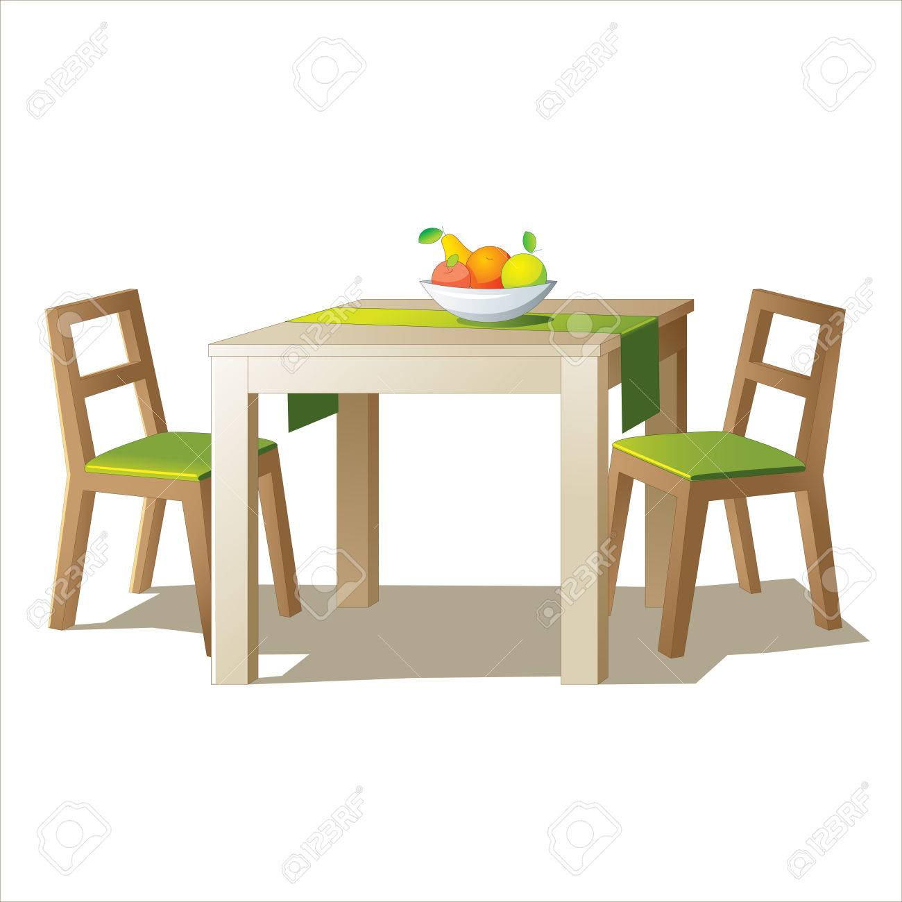 Dining Table Vector Stock