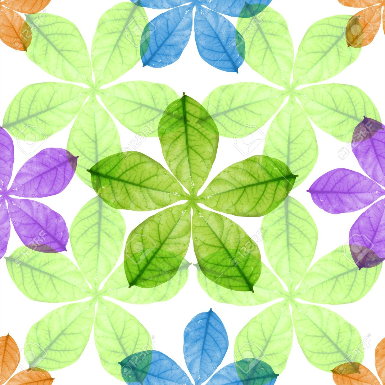 Seamless colorful  leaves Stock Photo - 9940363