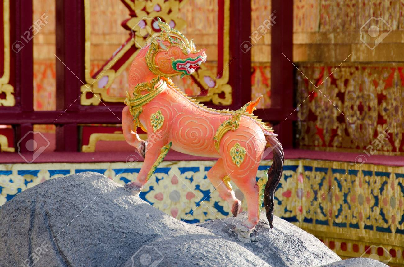 Thai Creatures statue from legend of Mysterious forest in Thai Royal Crematorium Stock Photo - 13555126