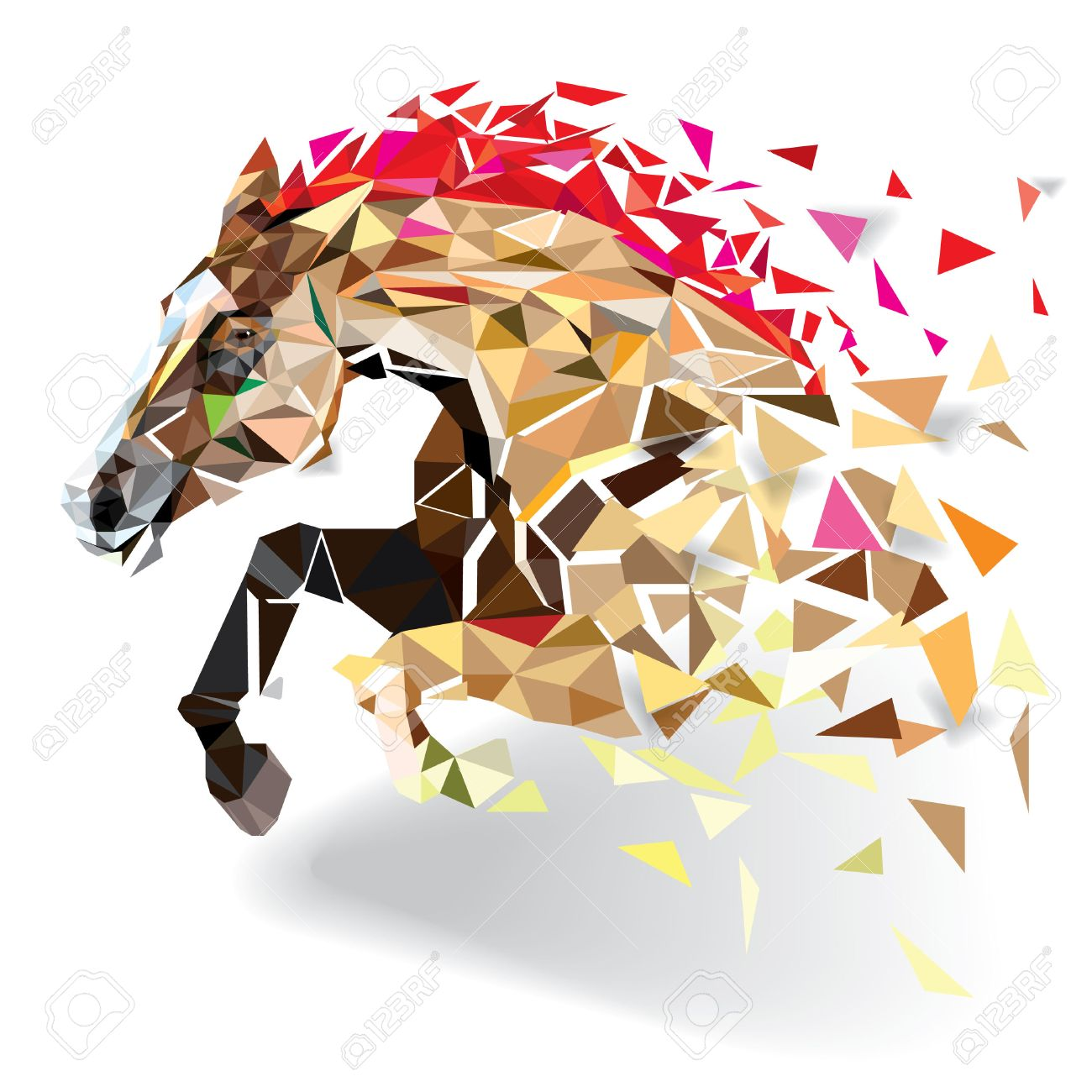 Horse in geometric pattern style. vector eps 10 - 51288734