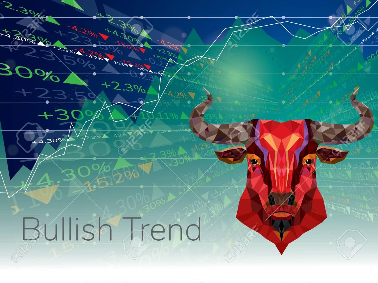 Bullish symbols on stock market - 112656950