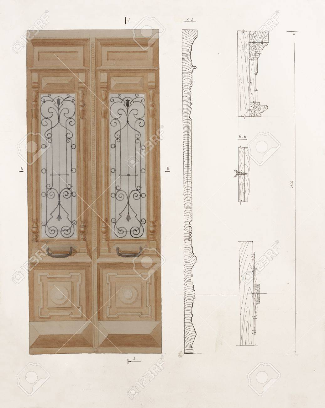 Door leaf drawing convention the location drawing joshua nava arts - Door Timber Dwg U0026 Detail
