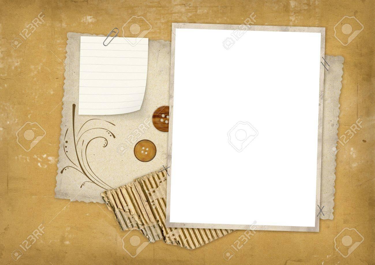 grunge shabby paper texture scrapbook Stock Photo - 2013909
