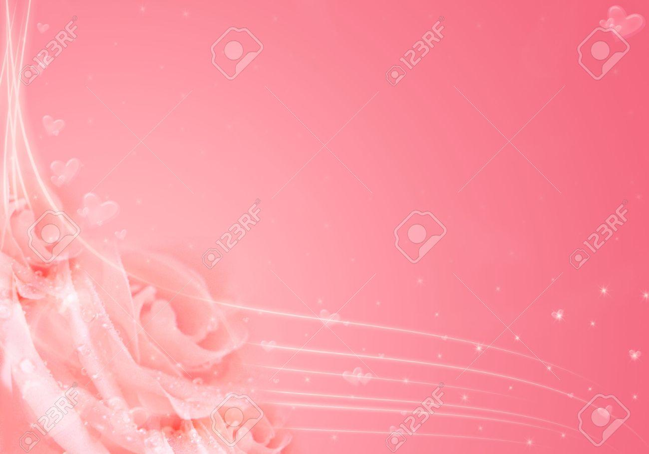 hermosa rosa de fondo con rosas y corazones bueno para boda valentine o diseos foto