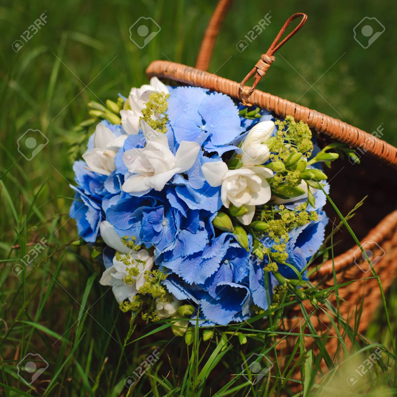 Beautiful Fresh Flowers Wedding Bouquet Stock Photo Picture And