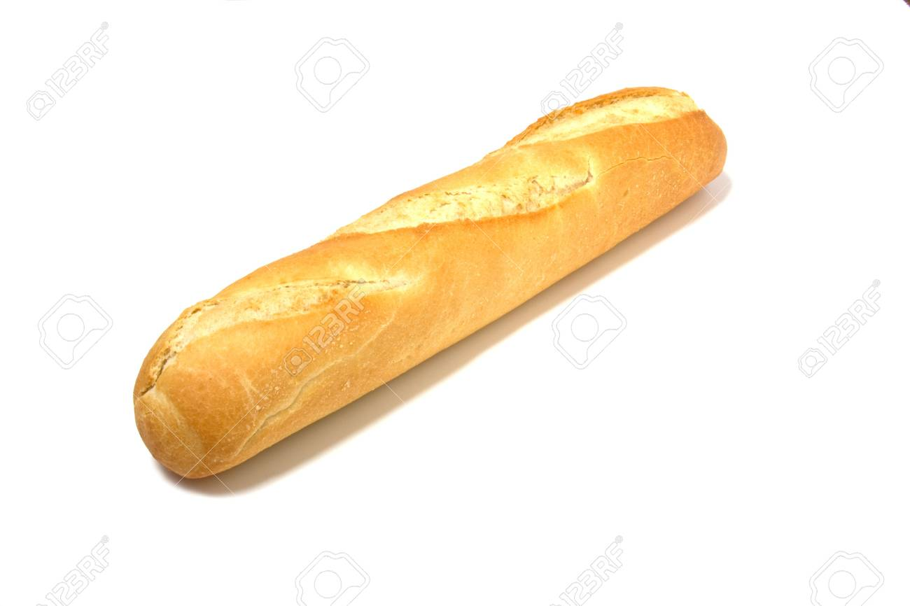 baguette isolated on white Stock Photo - 3804833