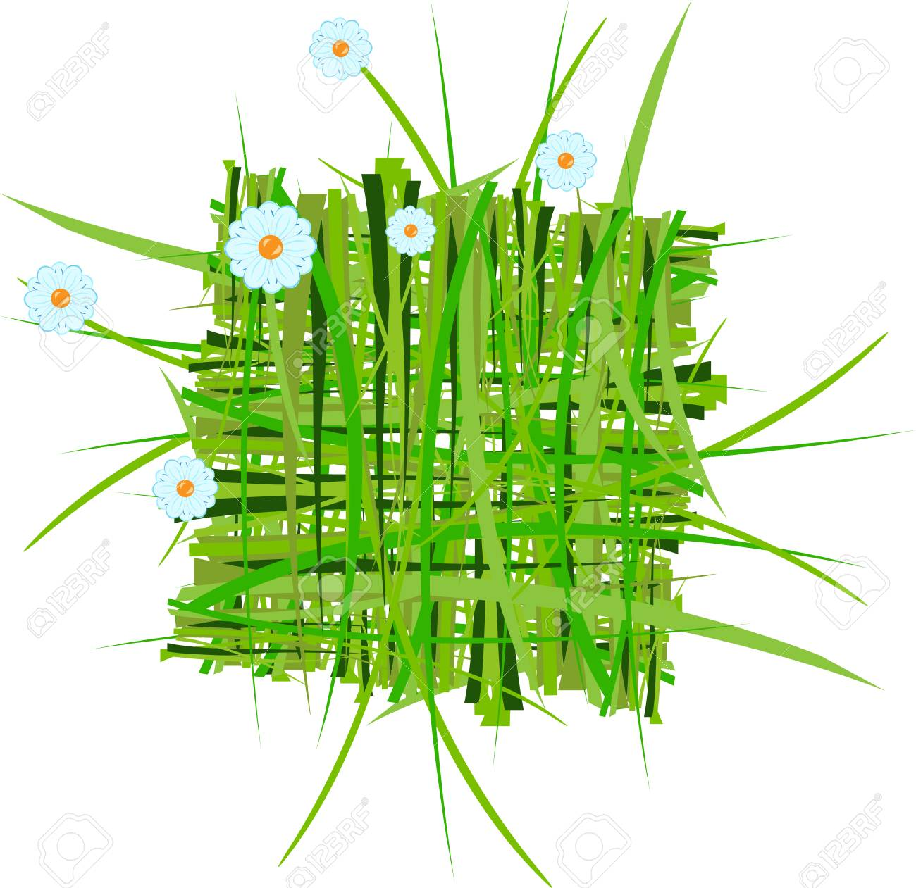 grass decoration in vector Stock Vector - 5355317