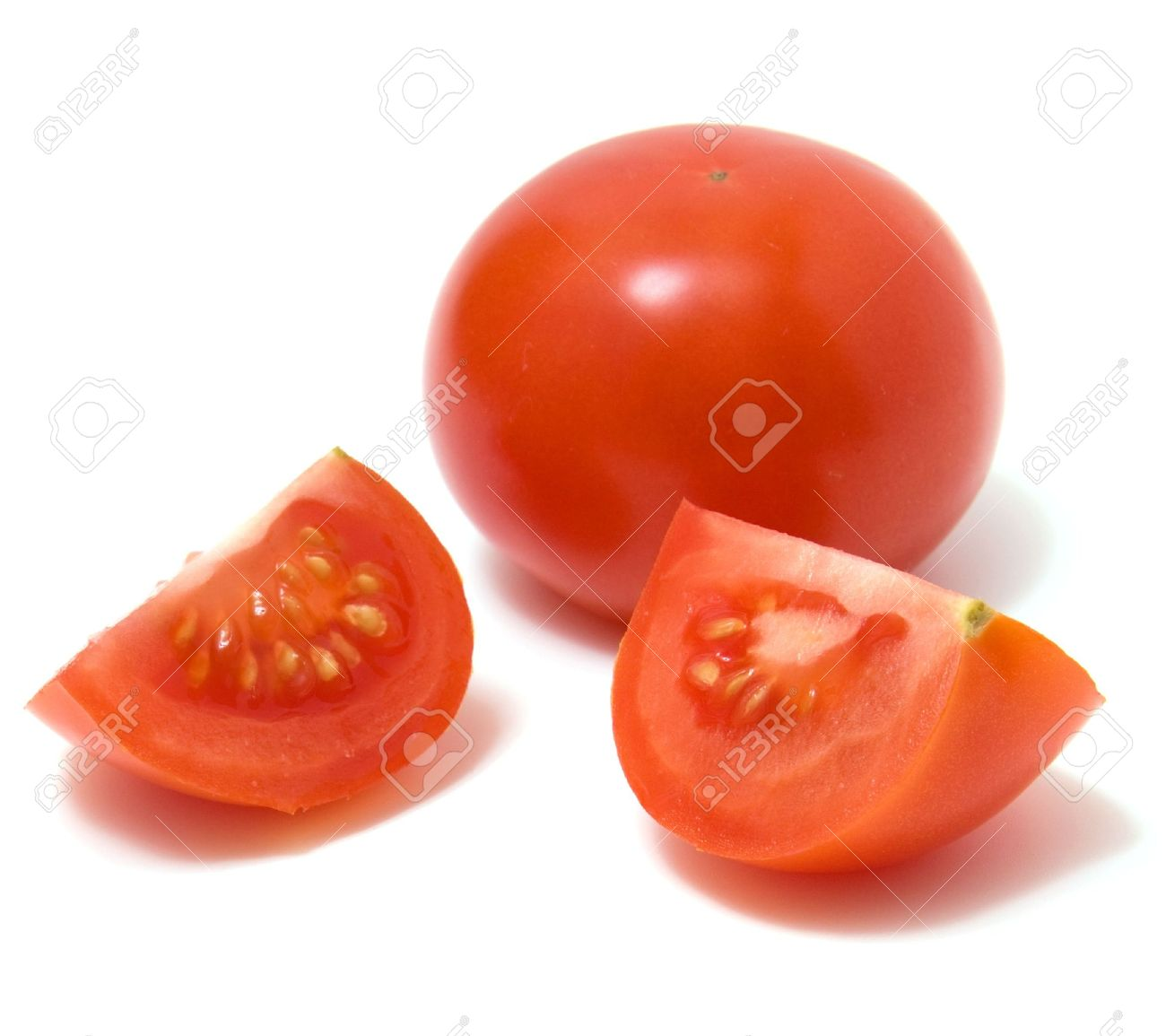 sliced tomato isolated on white background stock photo picture and