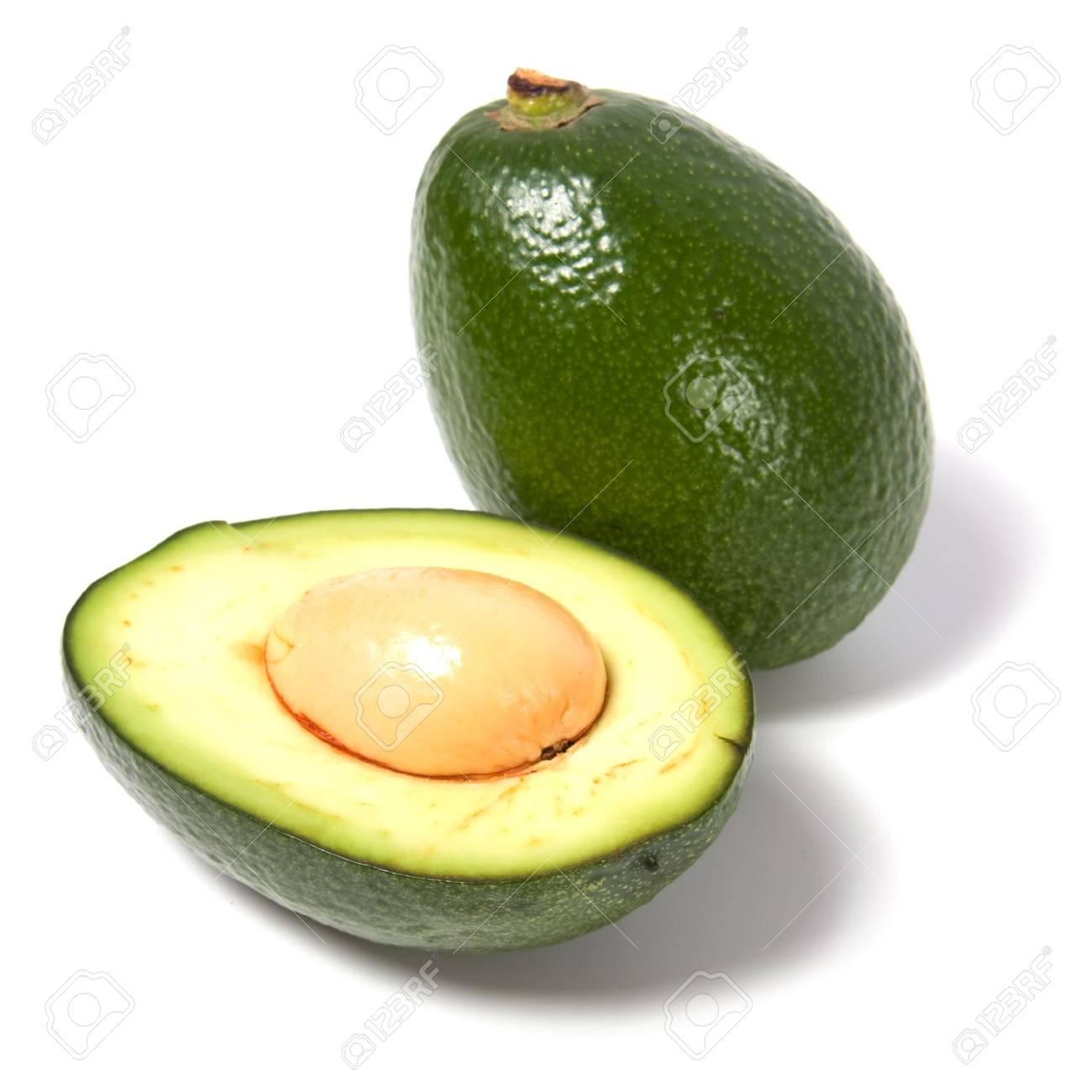 avocado isolated on white background Stock Photo - 5811308