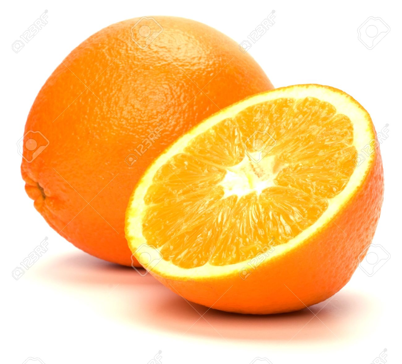 orange isolated on white background Stock Photo - 6258721