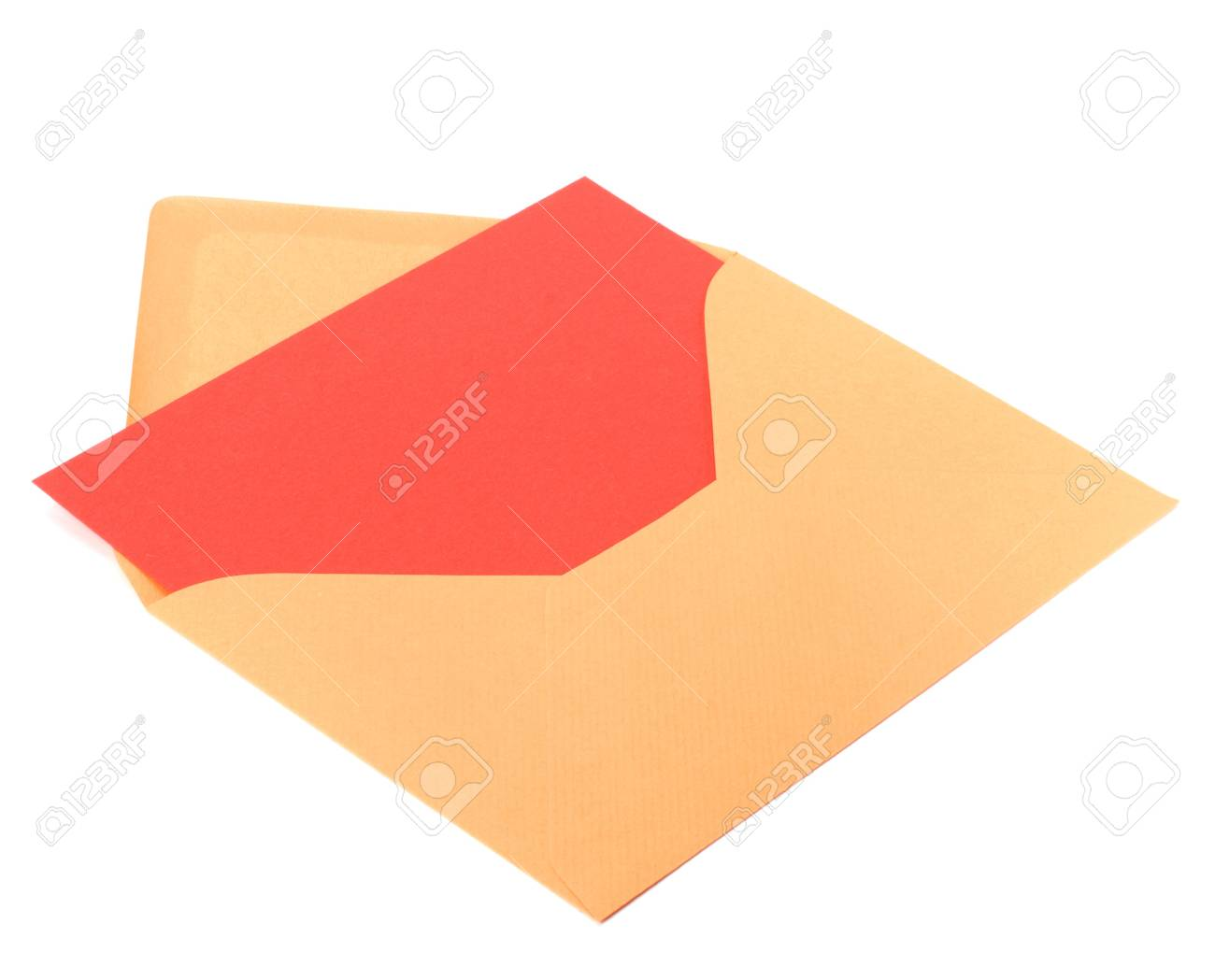 envelope with card isolated on white background Stock Photo - 6972902