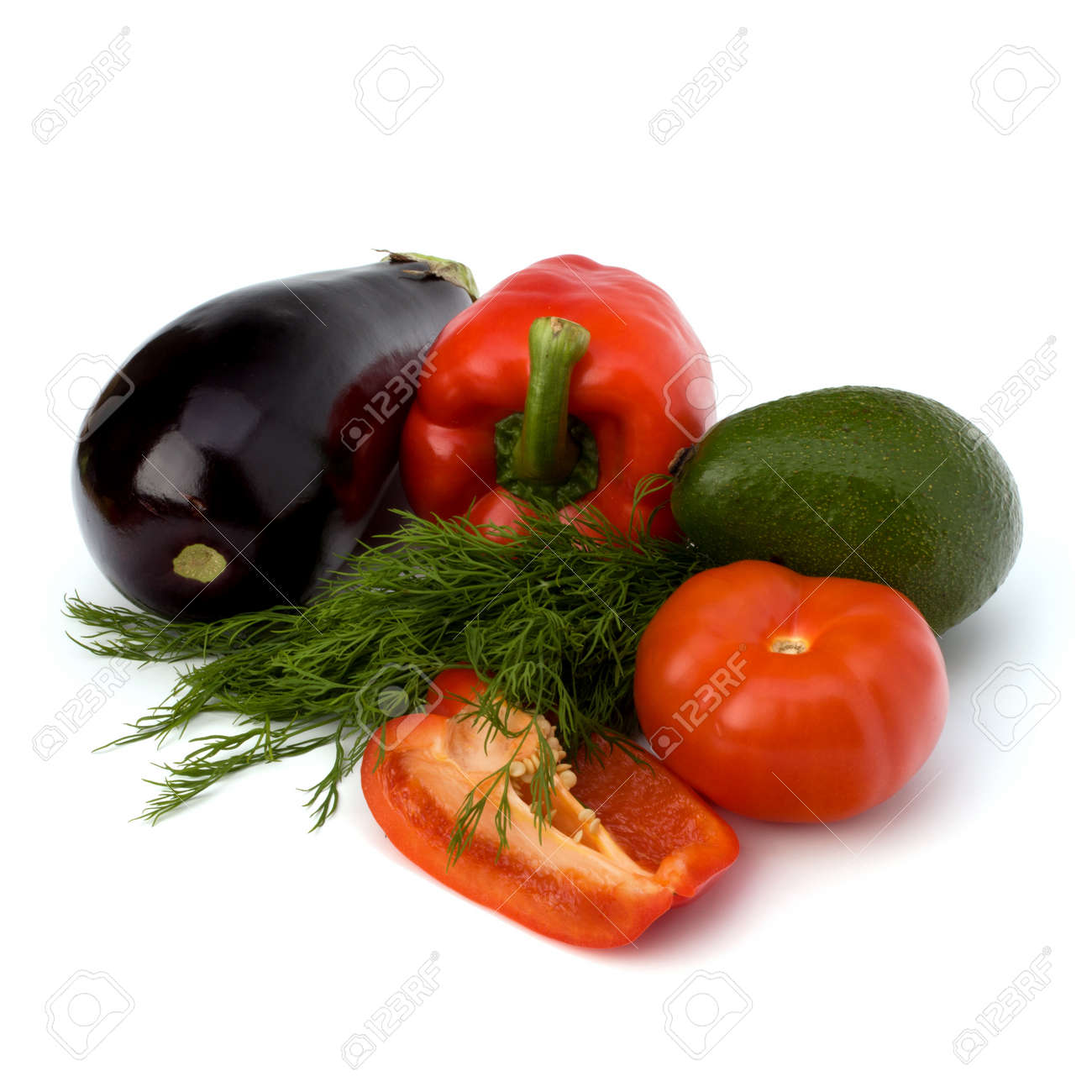 vegetables isolated on white background close up Stock Photo - 8527554