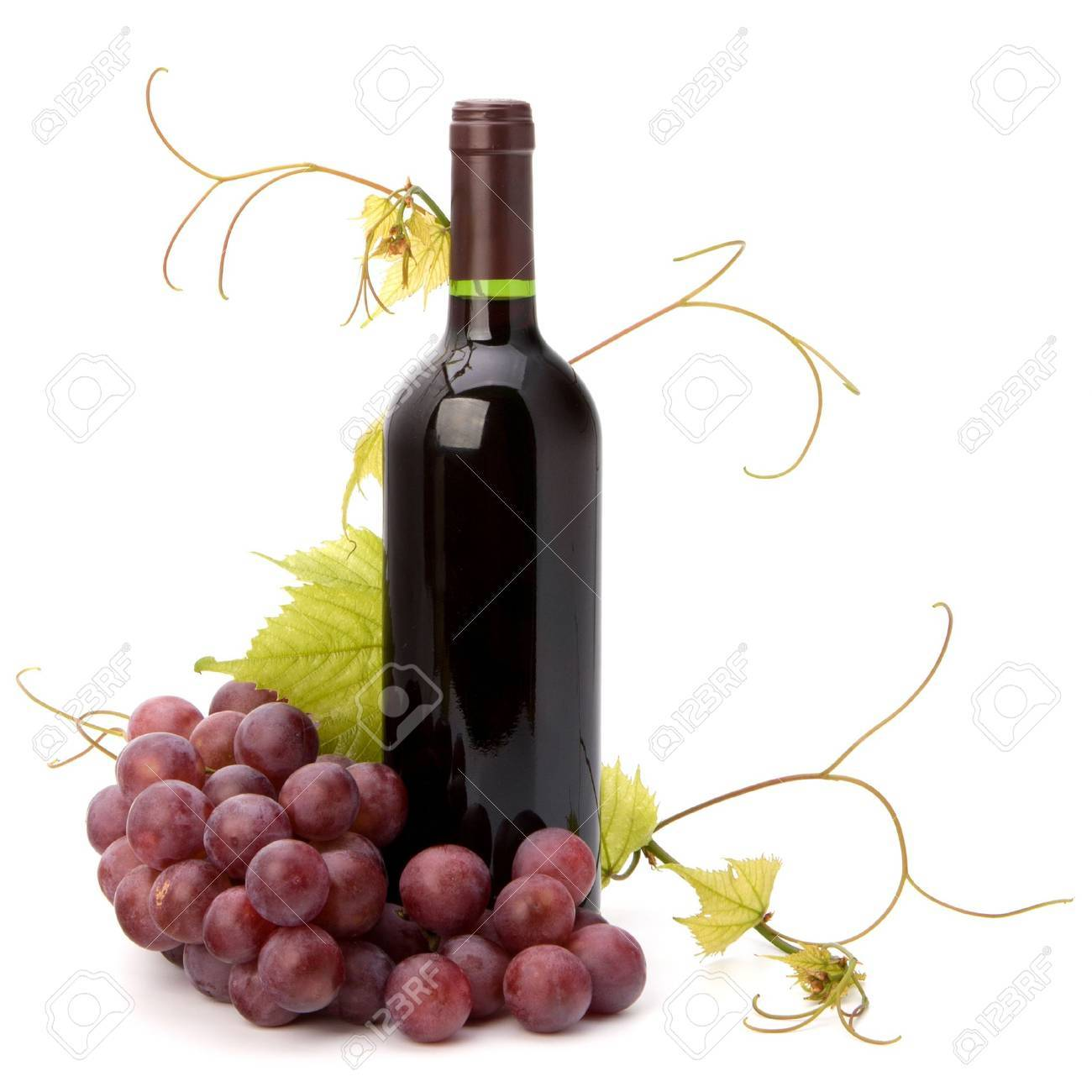 red wine bottle isolated on white background Stock Photo - 9054270