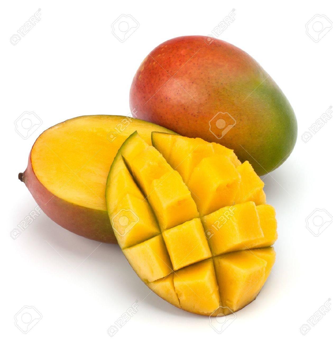 Mango Fruit Isolated On White Background Stock Photo, Picture And ...