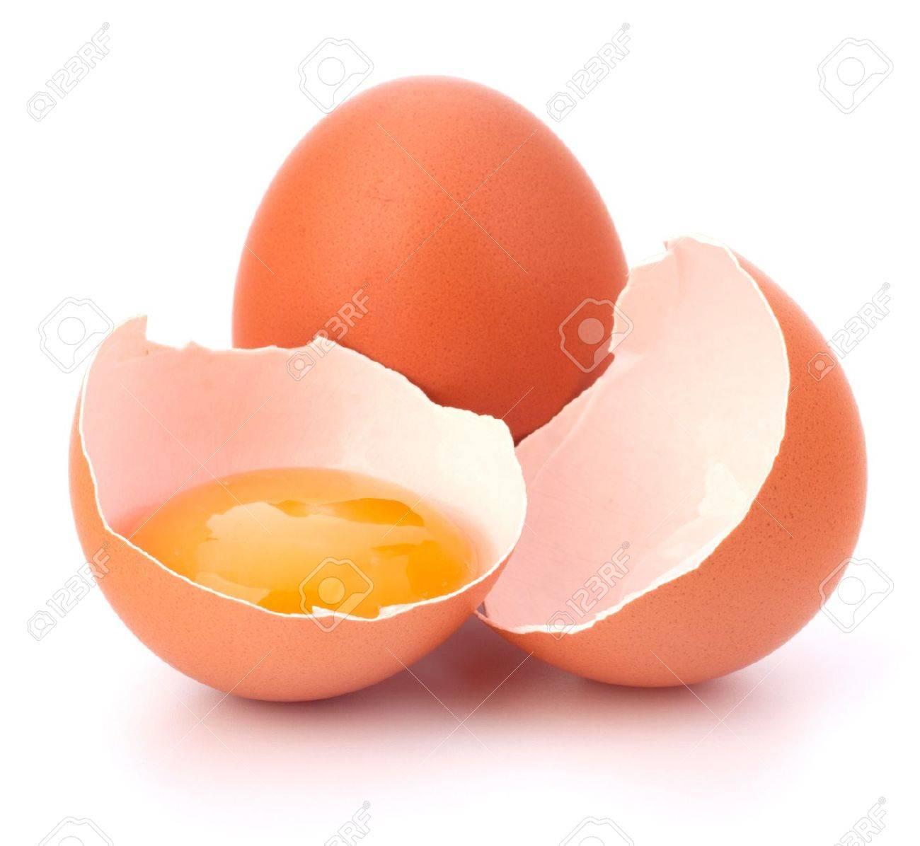 Broken egg isolated on white background Stock Photo - 11447413