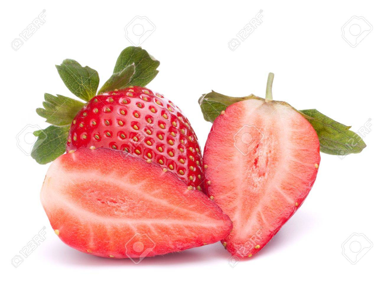 Strawberry isolated on white background cutout Stock Photo - 14131251