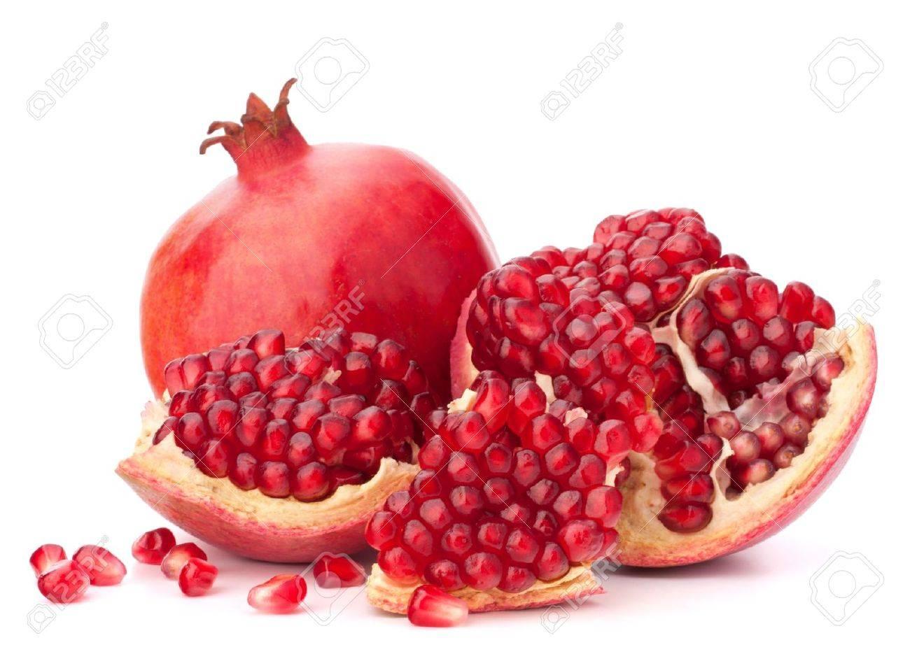 熟したザクロの果実は白い背景の切り欠きに分離 の写真素材・画像素材 ...