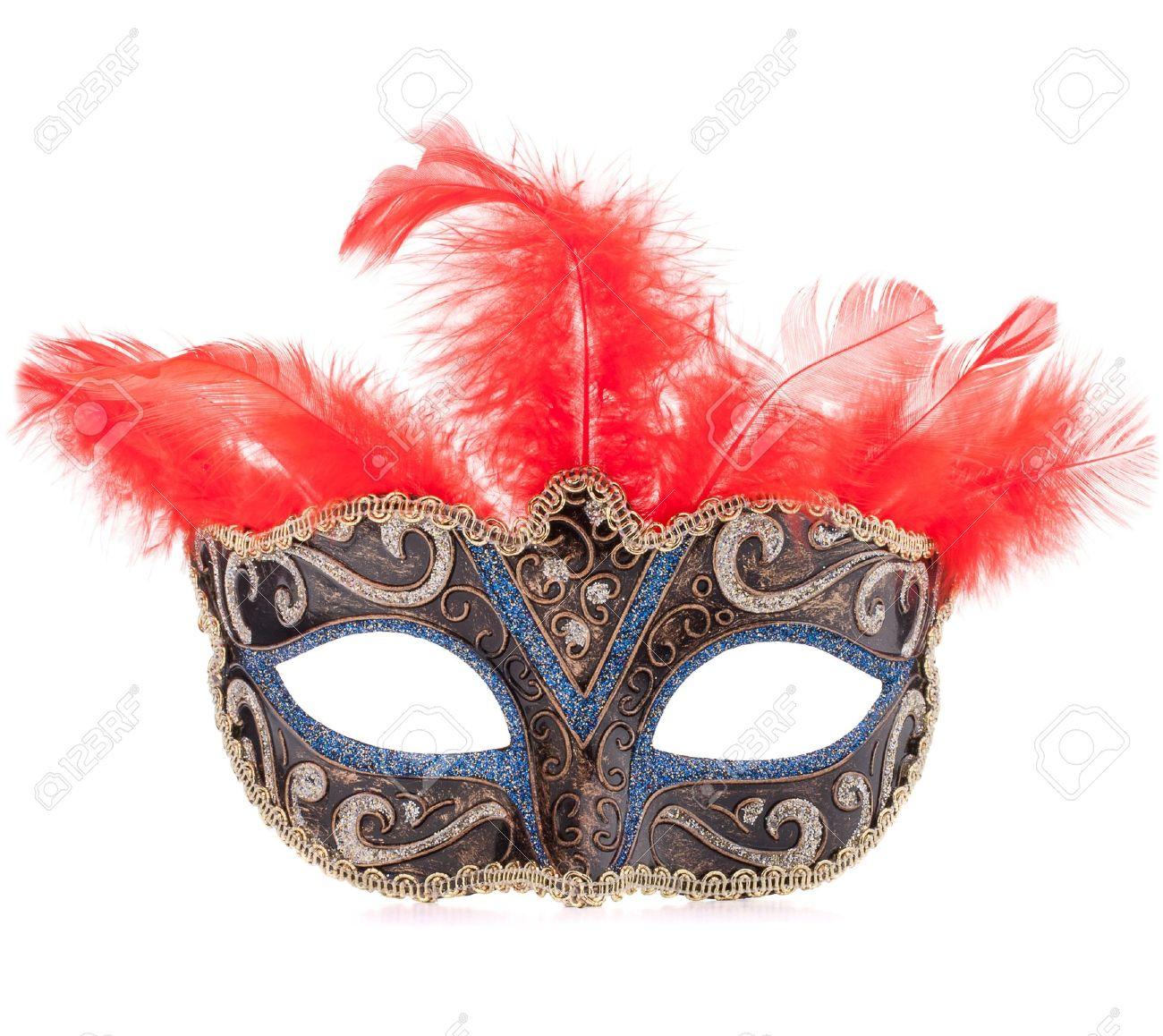 Venetian carnival mask isolated on white background cutout Stock Photo - 18221796