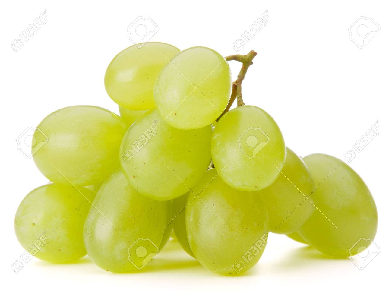 Green grape bunch isolated on white background cutout - 33875618