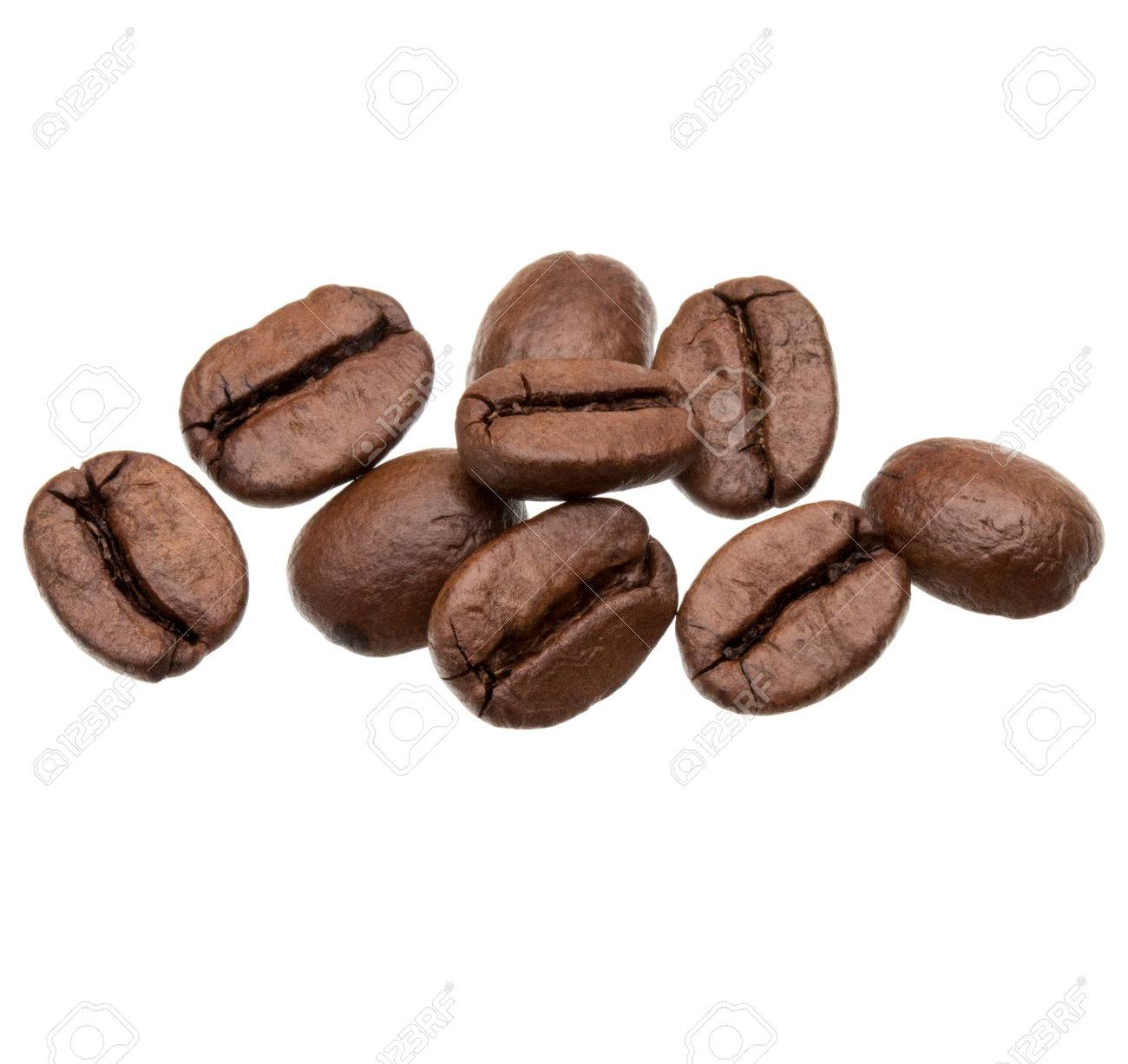 roasted coffee beans isolated in white background cutout - 36001601