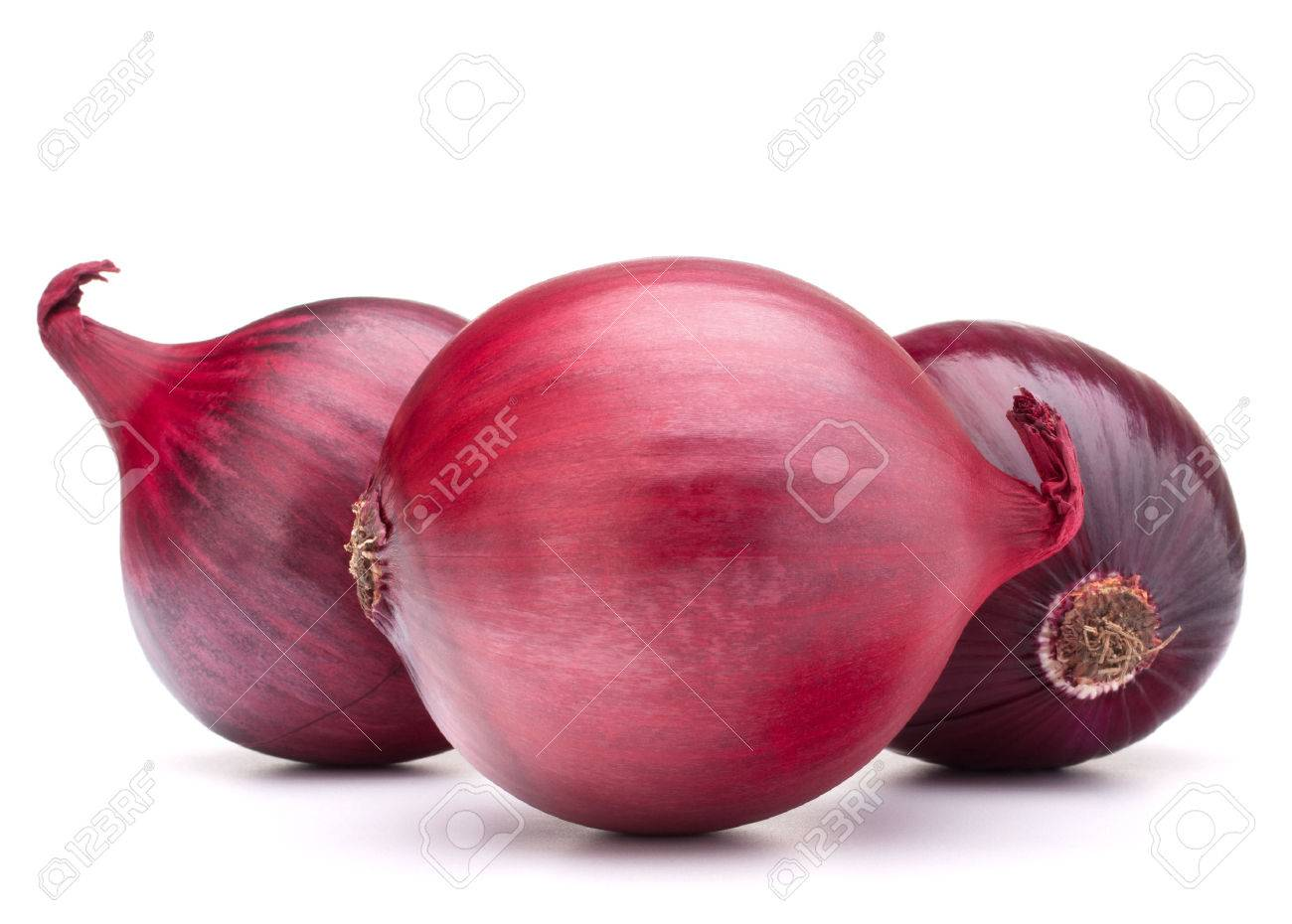 red onion bulb isolated on white background cutout - 37033579