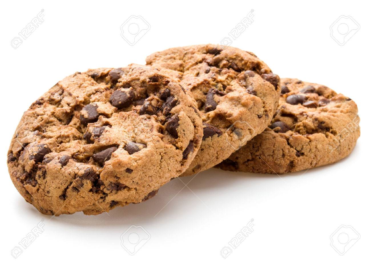 Chocolate cookies isolated on white background cutout - 37301150