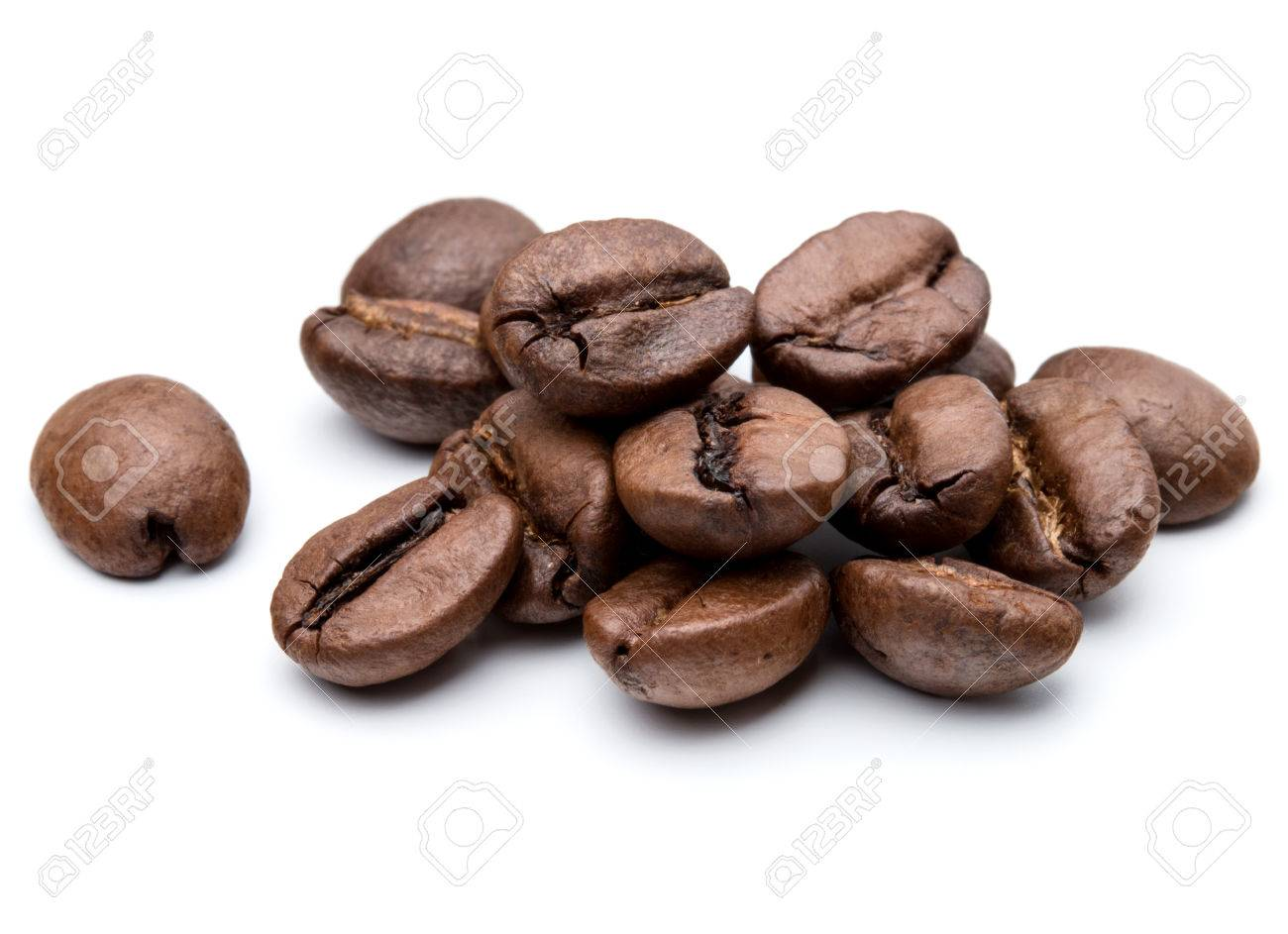roasted coffee beans isolated in white background cutout - 41848980