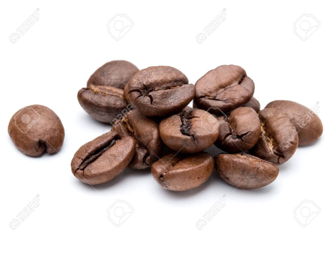 roasted coffee beans isolated in white background cutout - 45152206