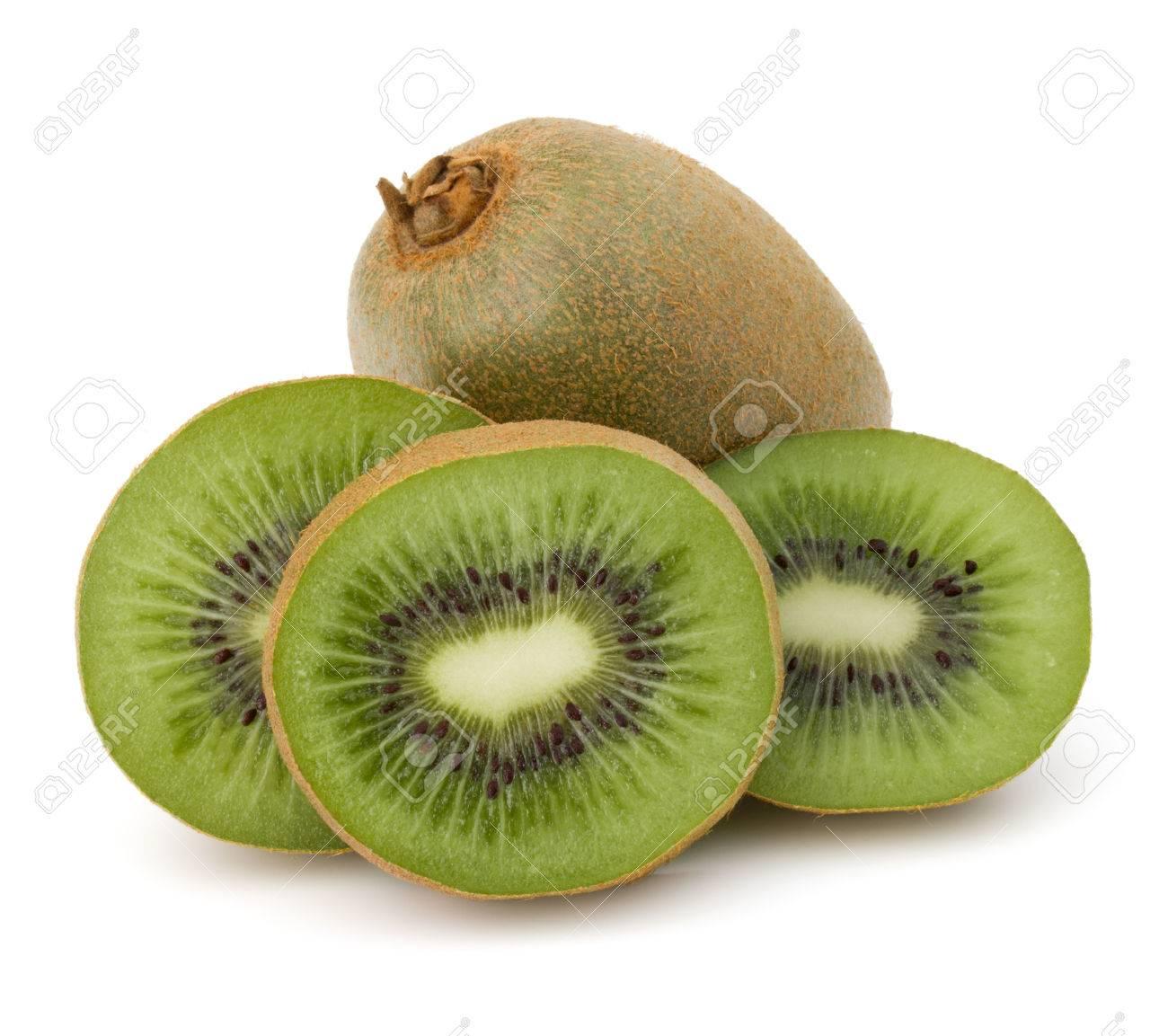 sliced Kiwi fruit isolated on white background cutout - 50823223