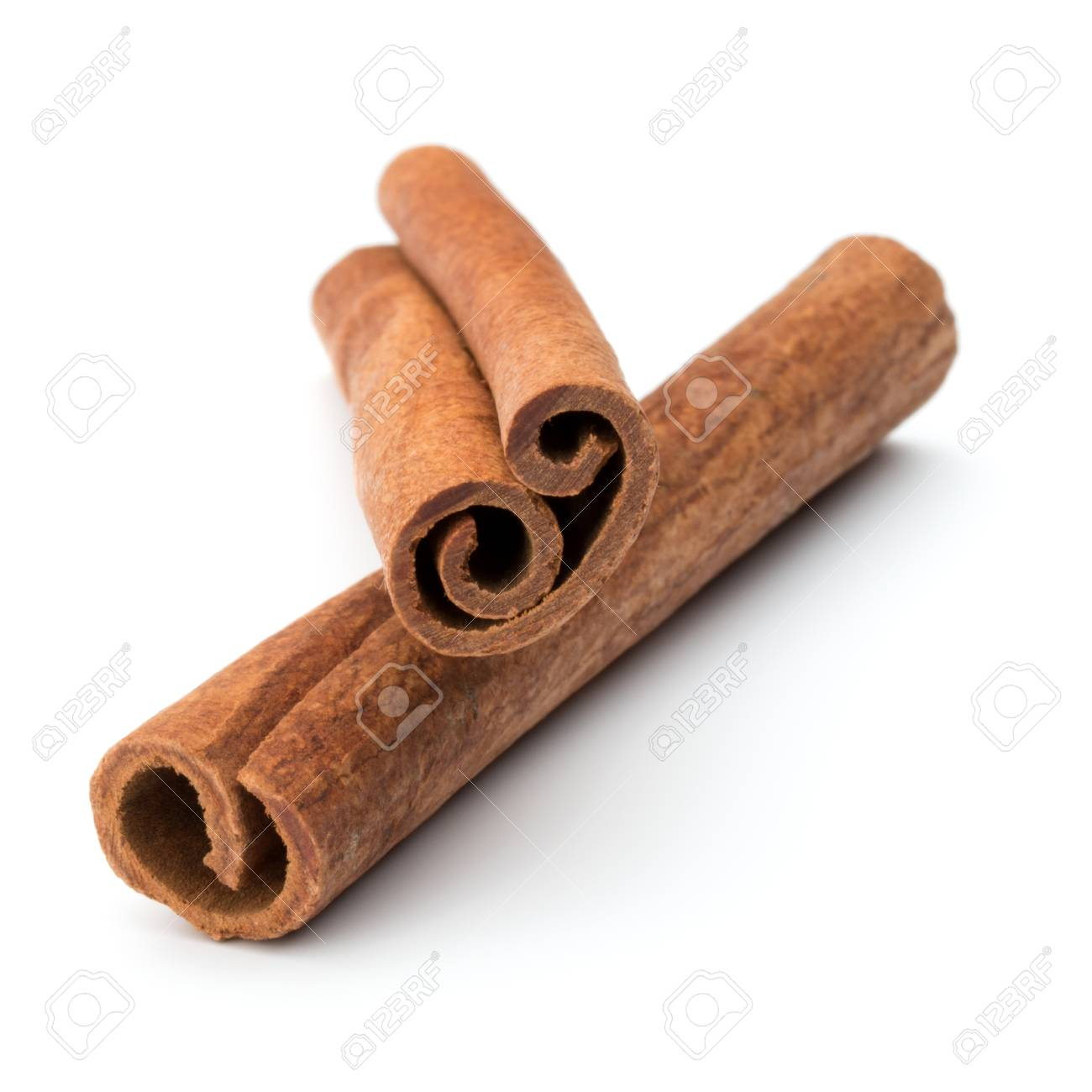 cinnamon stick spice isolated on white background closeup - 53853554