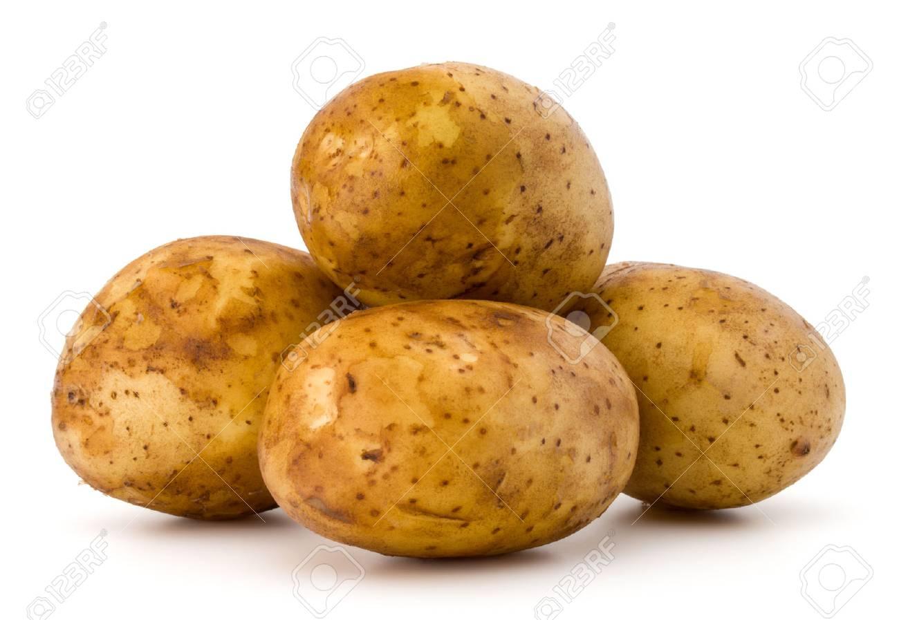 new potato tuber isolated on white background cutout - 84182872