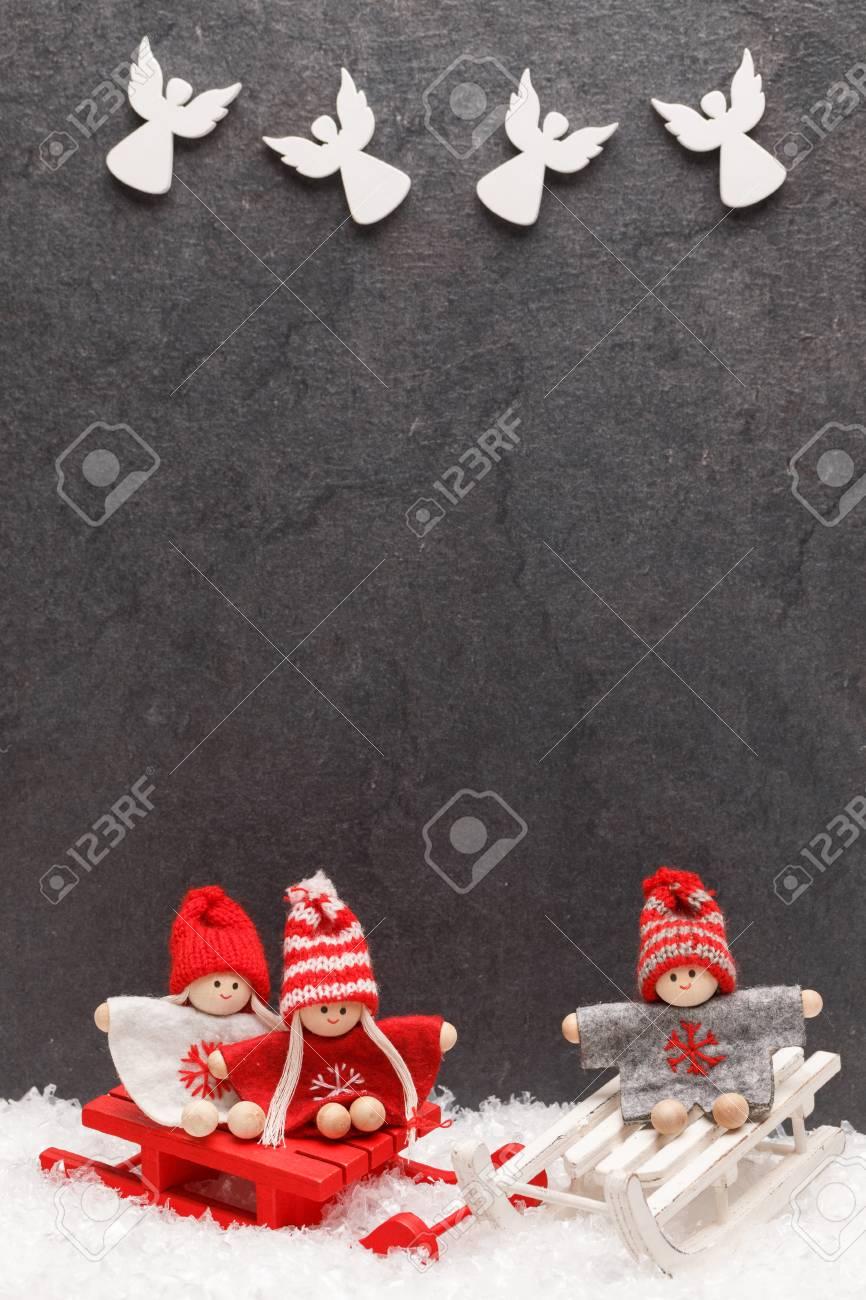 Weihnachtsgrußkarte . Noel Festlichen Hintergrund . Neujahr Symbol ...