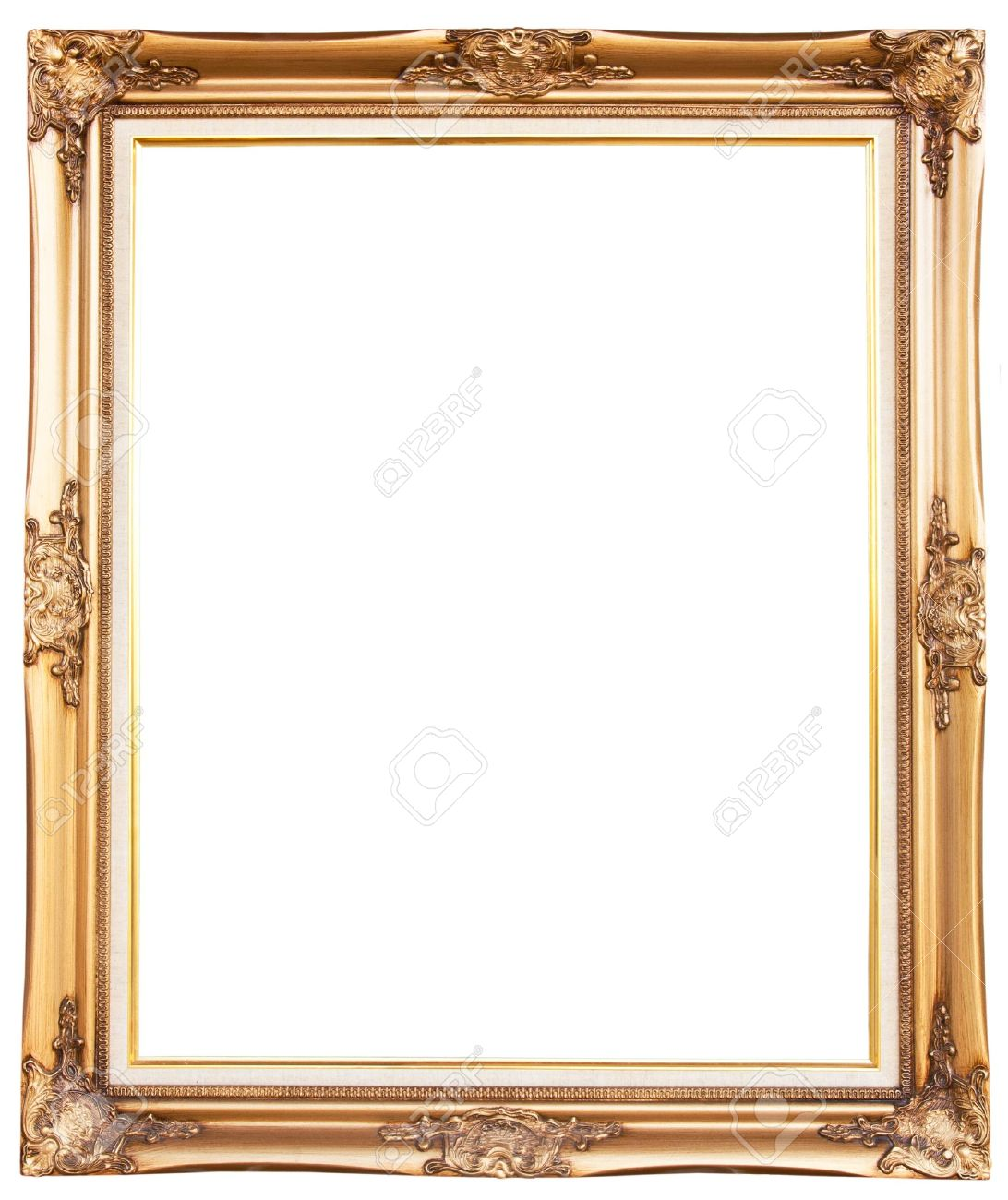 85e0c9ff5fc9 Old Antique Gold Frame Over White Background Stock Photo Picture