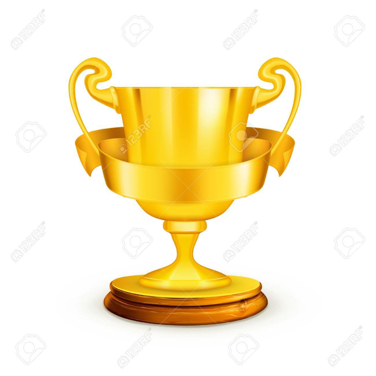 Gold trophy,illustration - 13667137