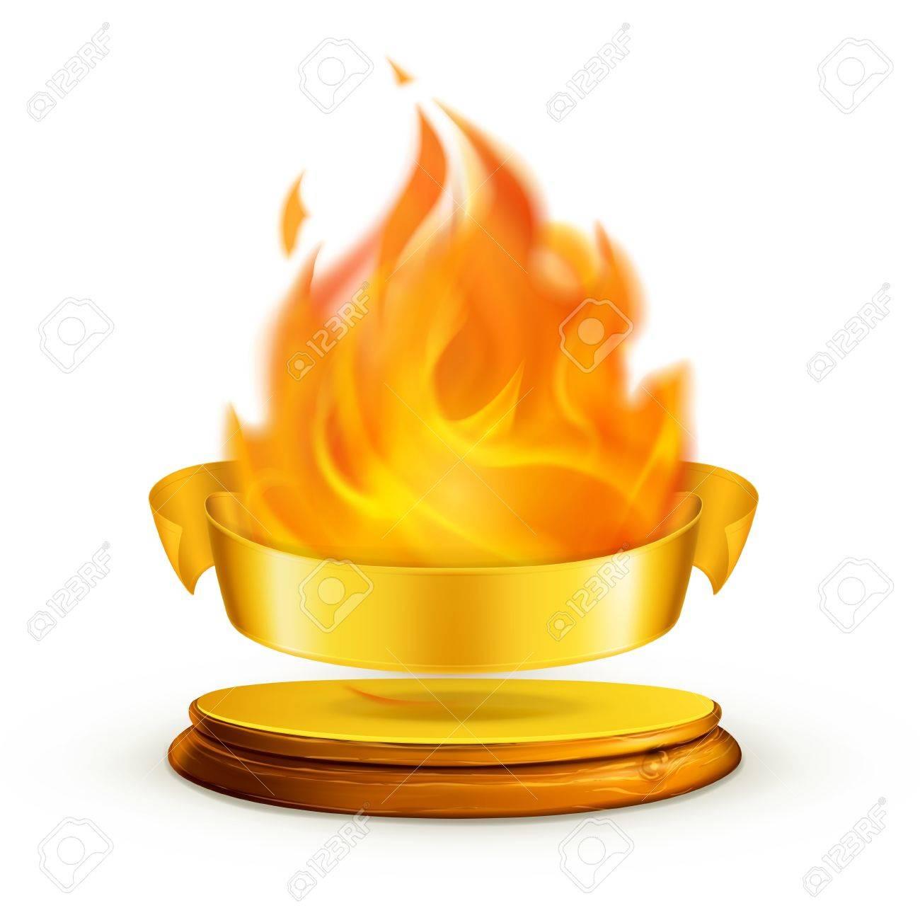 Golden flame,illustration Stock Vector - 13667134