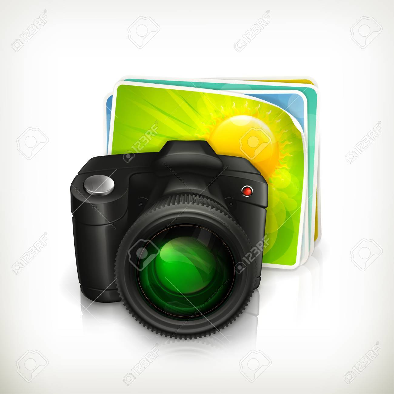 Photos and camera illustration icon Stock Vector - 13667139