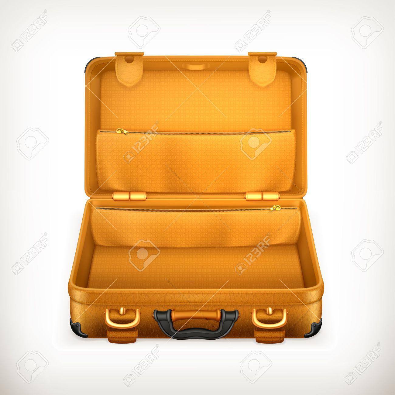 Open Suitcase  luggage...