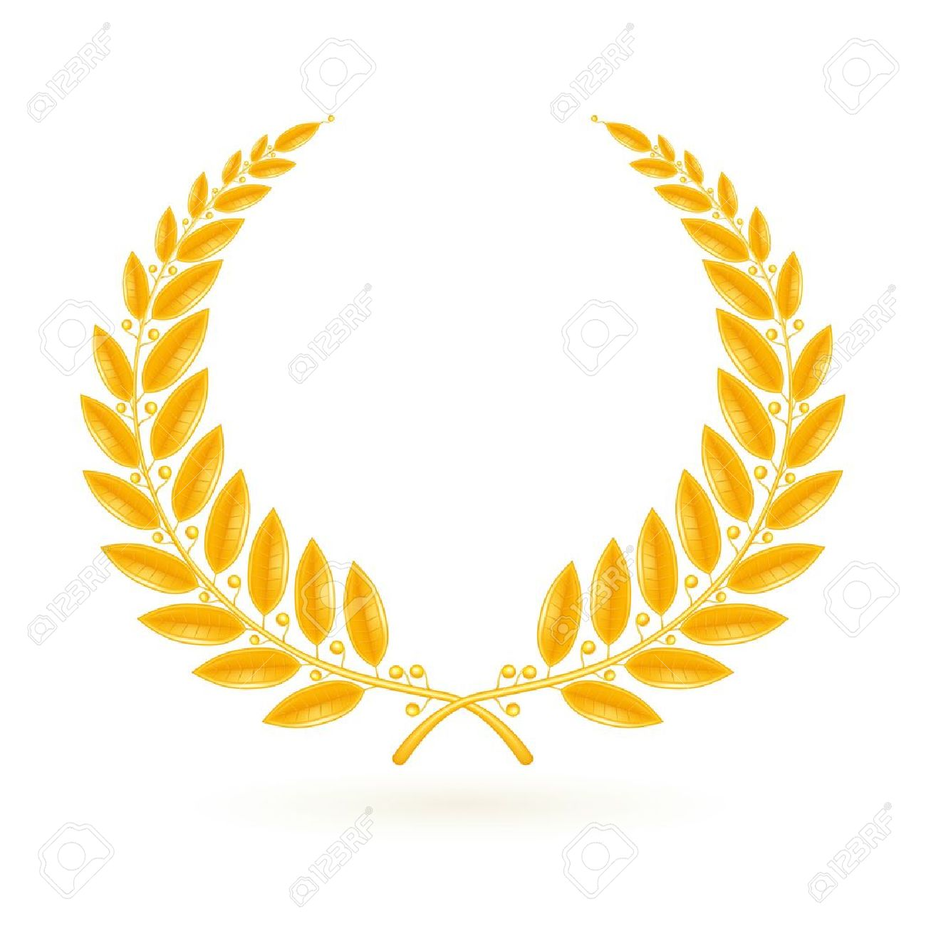 Gold Png Vector Vector Png Gold Laurel