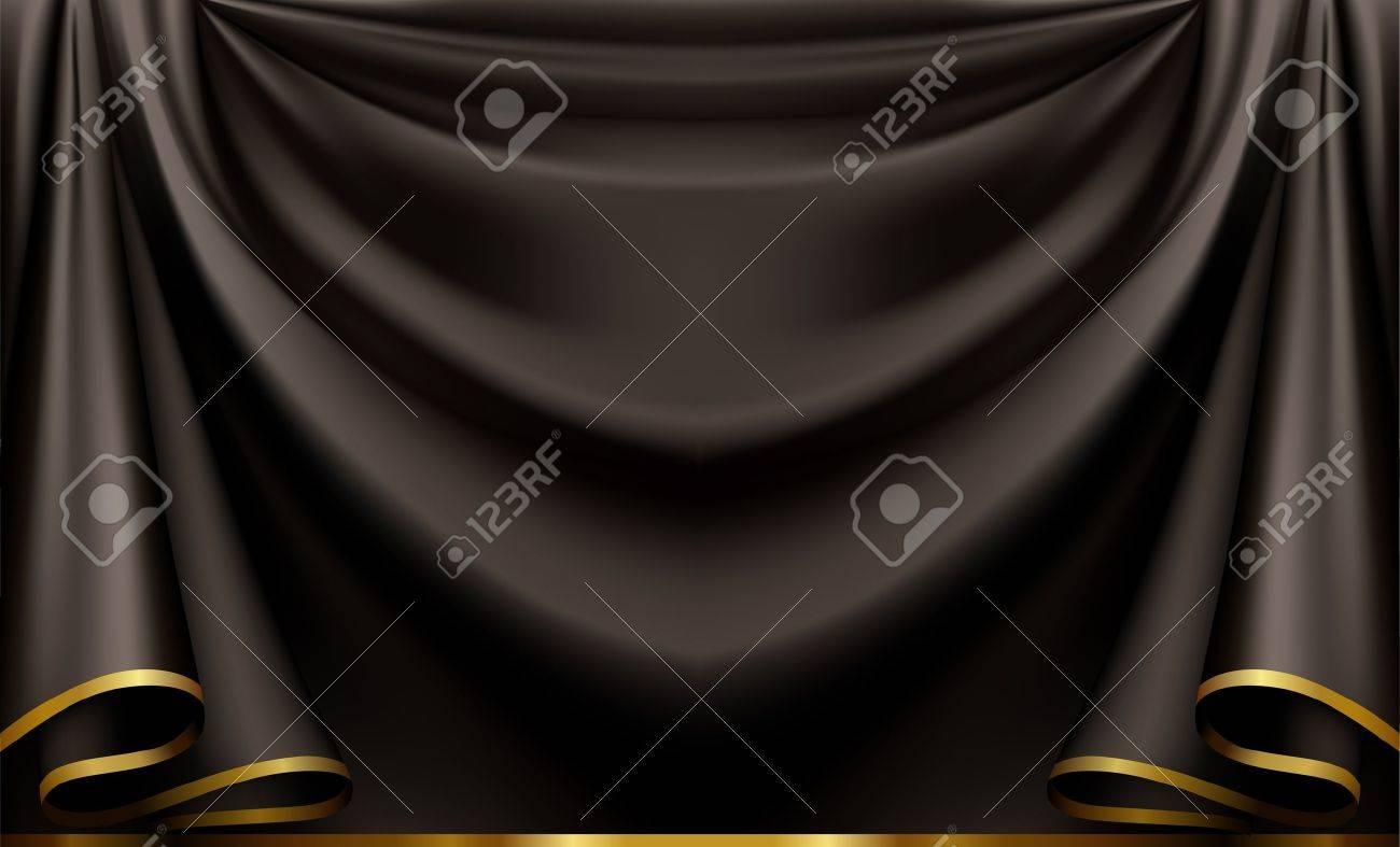 Black theatre curtain - Black Curtain Luxury Black Background