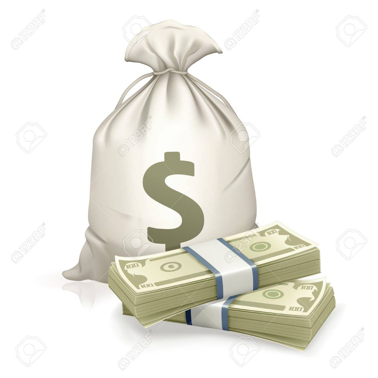 Sack and money Stock Vector - 13695865